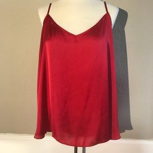 Red blouse top size L